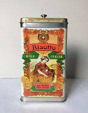 Vintage Beautiful 1992 RISOTTO Rice Italian Brass &Stainless Steel Tin Empty Box
