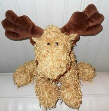 TY Moose plush Beanie Baby MELVILLE Large Brown Classic 2004 16""