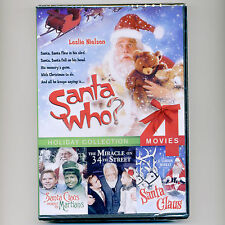 4 family Christmas Santa Claus Who? movies, new DVD Miracle 34th Street Martians