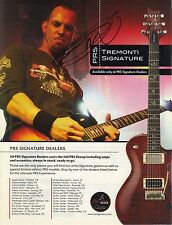 "MARK TREMONTI - SIGNED ""PRS"" GUITAR AD 2 - ALTER BRIDGE - TREMONTI - CREED -RARE"