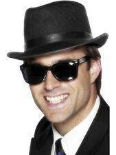 MENS BLACK SUNGLASSES ROCK N ROLL FANCY DRESS COSTUME OUTFIT BLUES BROTHERS 1950