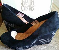 Reef Womens High Tropic Black Suede Wedge Heels Size 8
