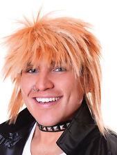 Bonde 80s Punk Rock Rocker Wig Spikey Mullet Superstar Fancy Dress Accessory New