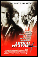 Lethal Weapon 4 Mel Gibson Danny Glover Movie Film Kino Poster & Rahmen 100x70cm