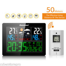 EXCELVAN COLOR Wireless Weather Station With Forecast Temperature Humidity EU