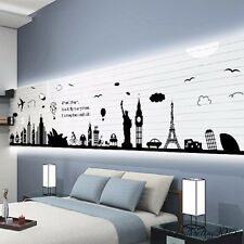 City Silhouette Wall Decal Wall Sticker Living Room Decorative Wall Poster