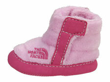 The North Face NSE Infant Baby Girl Fleece Booties Pink Lady Ruffle 6-9Mths Sz 4