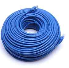 200FT CAT6 RJ45 23AWG UTP Twist Pair Solid Network Ethernet LAN Cable Blue