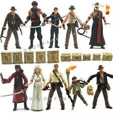 "10 Lots 3.75"" Indiana Jones With Accessories Collection Action Figures Boy Toy"