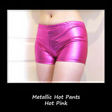 Ladies Girls Metallic Hot Pants Mini Shorts Neon Tutus Retro UK 6-12