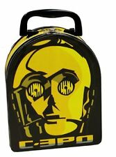 Star Wars C-3PO Embossed Face Carry All Tin Tote Arch Lunchbox 2013, NEW UNUSED