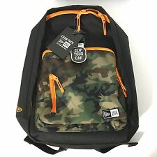 NEW Era Branded Cram Backpack Woodland Camo Camouflage 3 Pocket Cap Clip