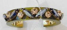 NWT Authentic J Crew Lucite And Crystal Bracelet Olive Peach Pewter