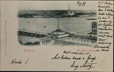 RUSSIA 1899 PC Postcard St. Petersburg - Wien I AT Express Zitadelle Fortress