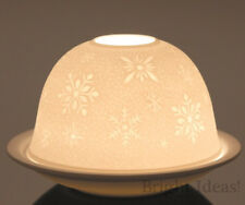 Plaristo - DOME LIGHTS TEA LIGHT CANDLE HOLDER - Snowflake Christmas