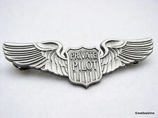 PRIVATE PILOT FLIGHT WINGS LARGE PIN AIRPLANE FLIGHT SCHOOL BADGE,Learn to Fly