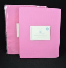 Pottery Barn Kids Sailcloth Panels Curtains Pole Pocket 44x 84 Hot Pink S/2