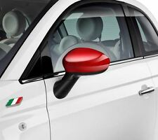 Fiat 500 Grande Punto Evo Gloss Red Mirror Caps Covers Pair Genuine 71807485
