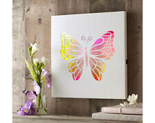 Colour Changing Light up Butterfly Picture Battery Operated Hanging Living Room