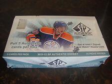 2011-12 SP Authentic Hockey Box---Hobby---Factory Sealed---24 Packs---3 Auto's