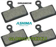 ASHIMA SET 4 PASTIGLIE ORGANICHE COMPATIBILI SHIMANO XTR-XT-SLX