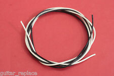 Cable Blanco 1 metro Negro 1 Metro Wiring Cloth Electronica Guitarra o Bajo Wire