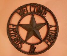 *WELCOME FRIENDS & FAMILY*Western Style Wall Hanging Sign*Cast Iron*SHIPS FREE*