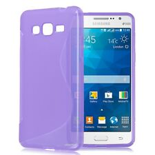 Samsung Galaxy Grand Prime TPU S Shape Rubber Soft Case Cover Canada 5""