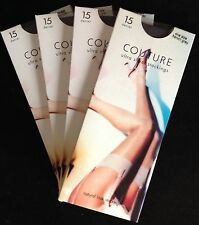 Couture Ultra Sheer nylon Stockings 15 Denier French Grey free organza bag
