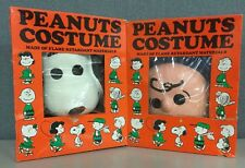 Peanuts Costume Snoop Small 4-6 Charlie Brown Med 8-10 Vintage Made in USA 1960s