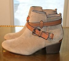 Coach Pauline Women's Shoes Taupe Suede Zip Up Ankle Boots Size 6B A8984