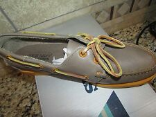 NEW SEBAGO DOCKSIDES BOAT SHOES WOMENS 10 LEATHER FLAT SHOES GRAY FREE SHIP!