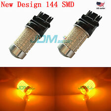 JDM ASTAR 144 SMD 3157 3057 Amber Car Turn Signal Backup Reverse Light LED Bulbs
