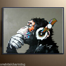 Modern Abstract Animal Canvas Oil Painting Wall Decor Art Hand Painted gorilla