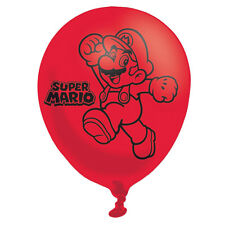 6 x Super Mario Balloons Childrens Birthday Party Decorations