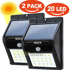 2X 20LED Solar Power Sensor Wall Light Security Motion Weatherproof Outdoor Lamp