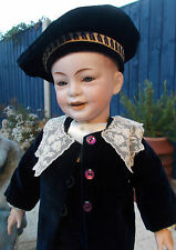 SUPERB QUALITY RARE 20 INCH FRENCH SFBJ MOLD 227 LAUGHING CHARACTER BOY