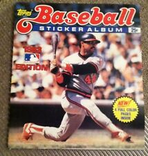 1983 MLB BASEBALL STICKER BOOK 10% Complete Topps Yearbook