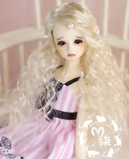 "New 3-4"" Noble Pale Golden Vampire Curly Wig For 1/12 BJD DK LATI OB PUKI XAGA"