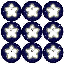144 Noche Star 30mm Niños Pegatinas De Recompensa por maestro, padre