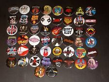 Assorted Rock Band Buttons /  Pins 50