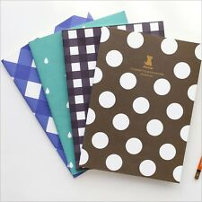"""Magic Graph"" Pack of 4 Lined Study Notebook Exercise Book Cute Diary Notepad"