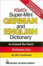 Klett's Super-Mini German and English Dictionary Weiss, Erich Paperback