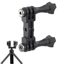 Black Dual Stud Mount Bracket Holder Camera Parts For Gopro Camera Outdoor