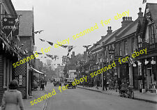 Photo - Street view, Orpington, Kent, coronation decorations, May 1937
