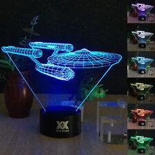 Star Trek USS Enterprise 3D LED Night 7Colour Touch Switch Table Desk Light Lamp