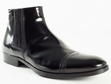 New  Manali Black Patent Leather Cold Weather Winter Boots Size 40 US 7