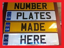 1 x REAR ROAD & MOT LEGAL NUMBER PLATE UK GB EURO DVLA RNPS SUPPLIER Fast P&P