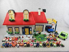 Playmobil Set 3965 Modern House Dollhouse With Furniture and Lots of People