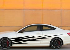Car Decal Vinyl Graphics body stickers Side Decals Stripe for C63 #722